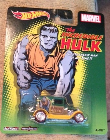 Hot wheels marvel the incredible hulk A-Ok new in package