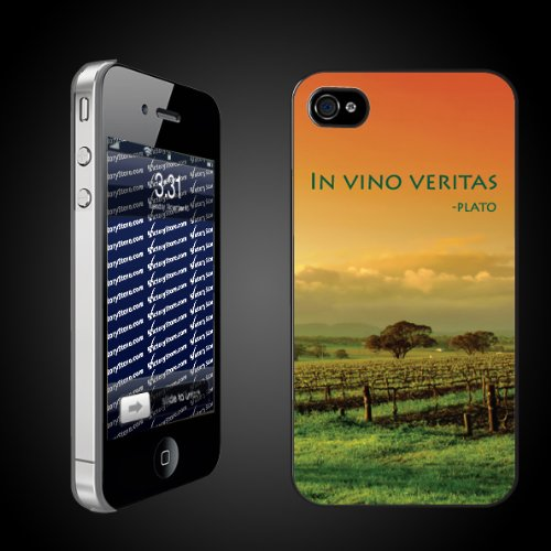 "Wine Theme ""In Vino Veritas"" by Plato iPhone Hard Case"