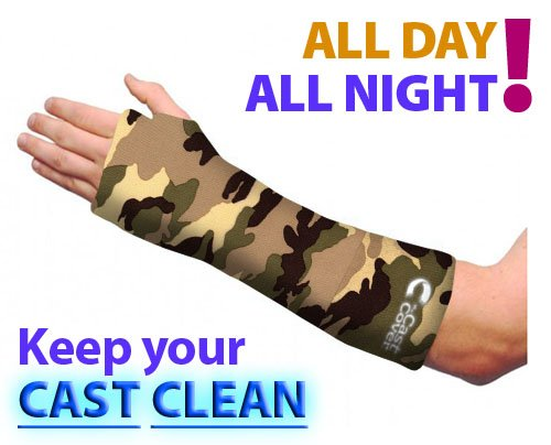Short Arm Cast Cover - Green Camouflage (Youth Small/Medium) (Short Arm Cast Cover compare prices)
