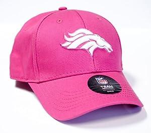 Officially Licensed NFL Denver Broncos Girls Embroidered Pink CHILD Size Hat Cap Lid by NFL Team Apparel
