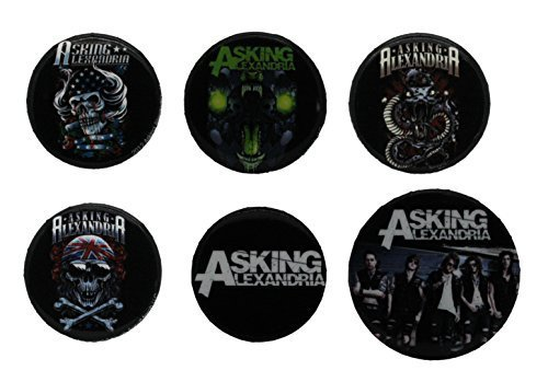 Posters: Asking Alexandria Badge Pack - Graphics, 4 X 25mm & 2 X 32mm Badges (6 x 4 inches) by Gb Posters