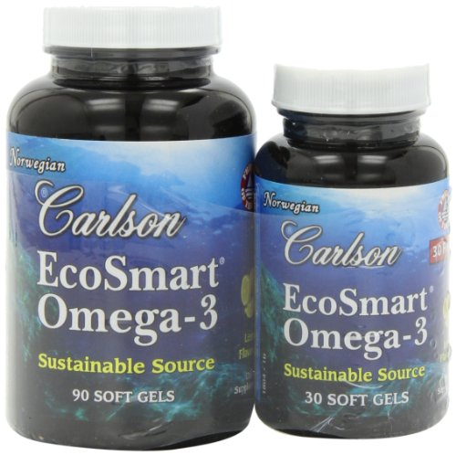 Carlson Labs Ecosmart Omega Mineral Supplement Softgels, 120 Count
