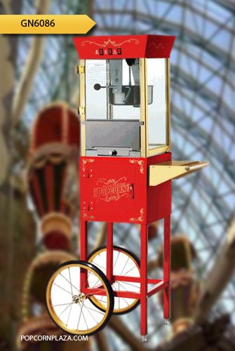 Great Northern Popcorn Red Matinee Movie 8 oz. Ounce Antique Popcorn Machine and Cart Old Antique Carnival Glass