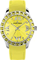Jacques Lemans Rome 1-1571ZD Ladies Yellow Leather Strap Watch