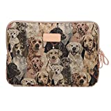 Generic Dogs Vintage Portable Antishock Waterproof Canvas 7-15.6 Inch Laptop / Notebook/ Computer / MacBook / MacBook Sleeves Case Covers for Lenovo/Apple/Asus/HP/Acer etc.
