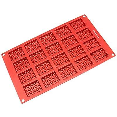 Freshware 18-Cavity Silicone Mini Round Waffle