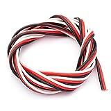 PVC Hilo servo 3-hilos plano Futaba 0.25 qmm 65 x 0.07 mm altamente flexible negro rojo blanco partCore 1000 mm 110054