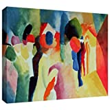 Art Wall ArtWall August Macke 'Woman with a Yellow Jacket' Gallery Wrapped Canvas Artwork, 18 by 24-Inch at Sears.com