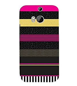 Fashion Art Lines Vision 3D Hard Polycarbonate Designer Back Case Cover for HTC One M8 :: HTC M8 :: HTC One M 8