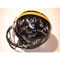 2012 Pittsburgh Steelers Team Signed Autographed Helmet Harrison, Troy Polamalu, Wallace and More with Certificate of Authenticity