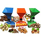 Metal Pecan Nut Cracker - Nutcracker in Tools - Quick Nutcracker Tool - Walnut Cracker - Pistachio Cracker - English Walnut Cracker - Drill Cracker - Automatic Cracking Machine - Adjustable Hand Crank - Can Be Drill Mounted - Metal Nut Opener - Nutcracker for All Nuts - Nutcracker Tool - Corn Crusher - Nut Crackers for Walnut - Nut Crackers for All Nuts - Nut Cracker and Steinless Steel
