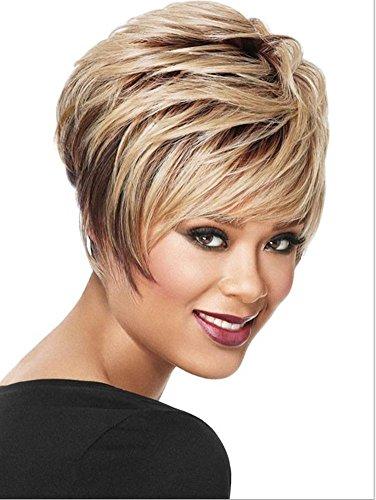 Meydlee Parrucche Euro & americano moda mix colore strato pieno parrucca breve + una parrucca gratis , picture color