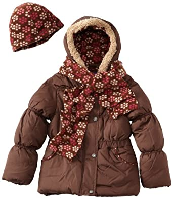 Pink Platinum Girls 7-16 Floral Print Jacket, Brown, 10/12