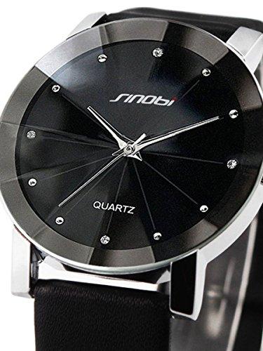 alienwork-orologio-quarzo-moda-quarzo-elegante-poliuretano-nero-nero-u981-01