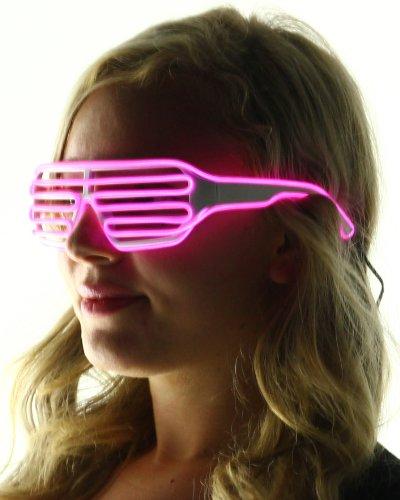 Light Up Shutter Shades Glasses (Pink)