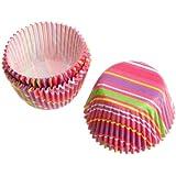 Wilton Snappy Stripes Mini Baking Cups, 75-Count