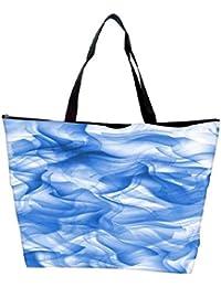 Snoogg White And Blue Smoke 2430 Waterproof Bag Made Of High Strength Nylon