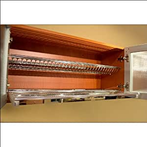 """Stainless Steel Dish Drying Rack 36"""" W Cabinet"""