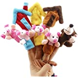 Baidecor Piggies Family Finger Puppets Set Of 8