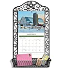 LANG Black Wrought Iron Calendar Frame