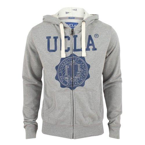UCLA Mens Kaufman Zip Up Hoodie Grey-Marl Large