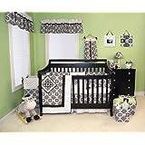 L.A.B.2 Versailles Black & White 4Pc Crib Bedding Set