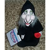"""Retired Disney Snow White And The Seven Dwarfs Poisoning Apple Witch 9"""" Plush Bean-bag Doll Mint With Tags"""