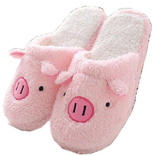 FEITONG-cerdo-precioso-Casa-Piso-raya-suave-Zapatillas-Hembra-Zapatos