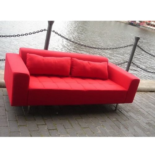 CC-6109-3 Modern Fabric Red Colour Living Room Sofa Armchair
