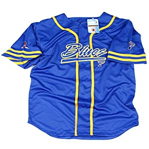 ST LOUIS BLUES NHL Baseball Style Jersey Blue, Size Medium