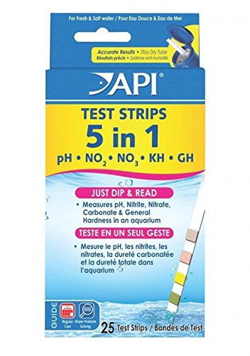 25 Ct. Extreme Popular 5 in 1 Aquarium Tester Strips Saltwater Check Easy to Read Accurate Results with Color Chart (Philippine Salt compare prices)