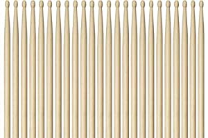 Vic Firth Drumsticks N5AW Nova 5A Drum Stick Brick - Wood Tip, 12 Pair from GO-DPS