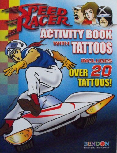 Original Speed Racer Activity Book with Over 20 Tattoos - 1