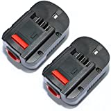 efluky 2Pack 3.0Ah 14.4V Ni-Cd Replacement Battery for Black & Decker 499936-34,499936-35, A14,A144,A144EX,A14F, B-8316,BD1444L,BPT1048,HPB14,Firestorm FS140BX,FSB14