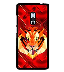 Tiger 2D Hard Polycarbonate Designer Back Case Cover for OnePlus 2 :: OnePlus Two :: One +2