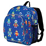 Wildkin Olive Kids Robots Pack 'n Snack Backpack