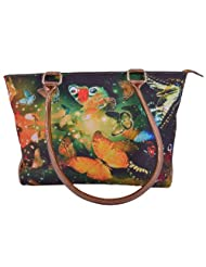 Tribal Zone Tribal Zone Graphic Shoulder Bag Group Of Butterflies
