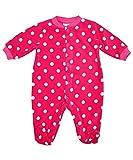 Fleece Baby Onesie Sleepsuits Boys Girls 0 3 months Cerise Spot