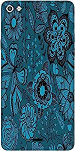 Snoogg Abstract Floral Background Designer Protective Back Case Cover For Micromax Canvas Silver 5 Q450
