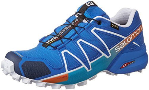 Salomon Speedcross 4 Gtx, Scarpe da Trail Running Uomo, Blu (Bright Blue/Black/White), 42 2/3 EU