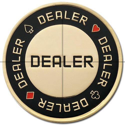 Protecteurs de cartes, de jeton Dealer, noir et doré