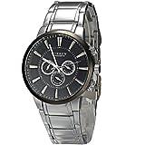 8001A Black Dial Steel Band Men's Sport Wrist Watch