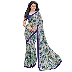 Women's Latest Designer Printed Saree with Blouse piece By Akk enterprise(weightless,Multi Color)