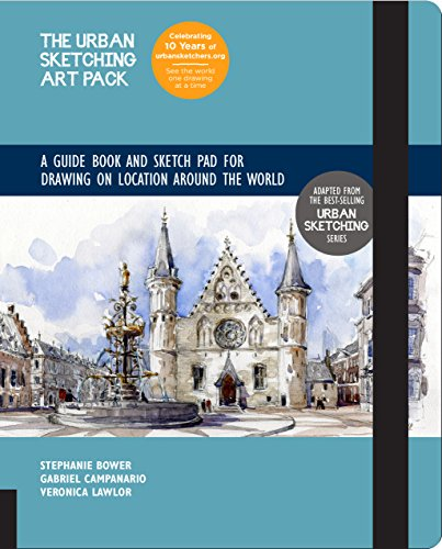 The Urban Sketching Art Pack A Guide Book and Sketch Pad for Drawing on Location Around the World--Includes a 112-page paperback book plus 112-page sketchpad [Campanario, Gabriel - Lawlor, Veronica - Bower, Stephanie] (Tapa Dura)