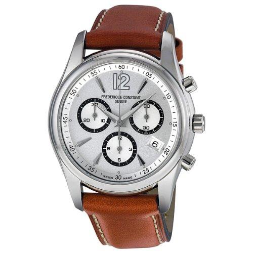 Frederique Constant Men's FC-292SB4B26 Junior Silver Dial Chronograph Watch