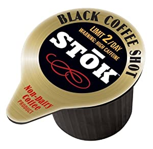 SToK Caffeinated Black Coffee Shots, Single-Serve Packages, 528 Count
