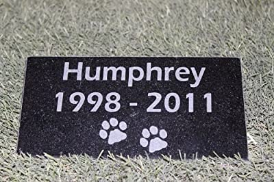 Sandblast Engraved Granite Pet Memorial Headstone Grave Marker Dog Cat ndp 4x8