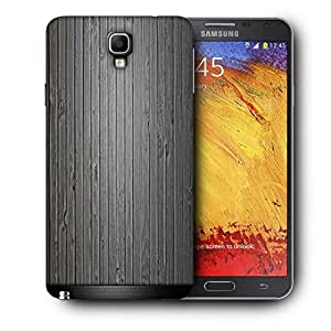 Snoogg Black Wood Printed Protective Phone Back Case Cover For Samsung Galaxy NOTE 3 NEO / Note III