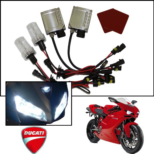 Tgp H7 And H1 6000K Diamond White Ac Hid Xenon Kit (Low And High Beam) 2011-2012 Ducati Monster 796