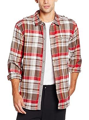 ICEPEAK Camisa Hombre Taban (Rojo / Marrón)
